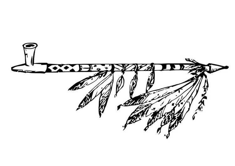 Cherokee Indian Pipes Coloring Pages